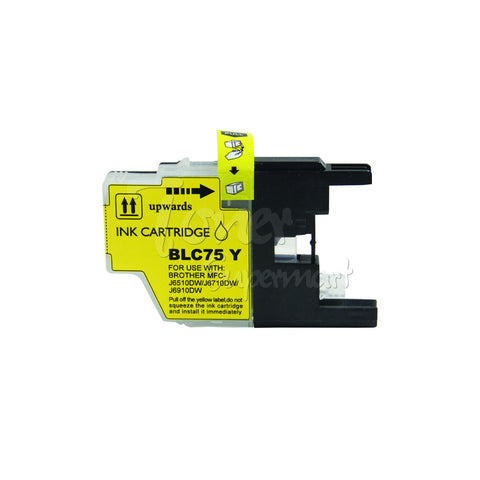 Compatible BROTHER LC75Y High Yield Yellow INK / INKJET Cartridge