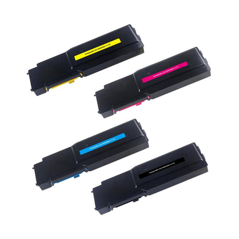 Compatible Dell C3760 / C3765 Combo Toner Cartridge High Yield BK/C/M/Y