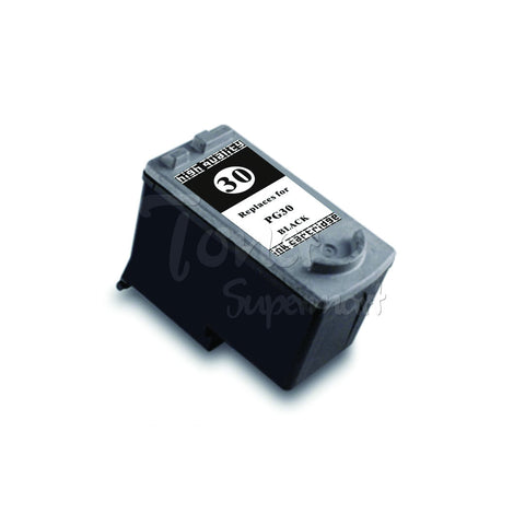 Remanufactured CANON PG-30 High Yield Black INK / INKJET Cartridge