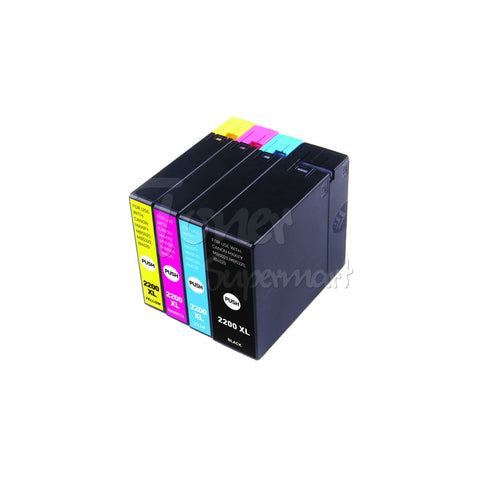 Compatible CANON PGI-2200XL INK / INKJET Cartridge Set BK/C/M/Y