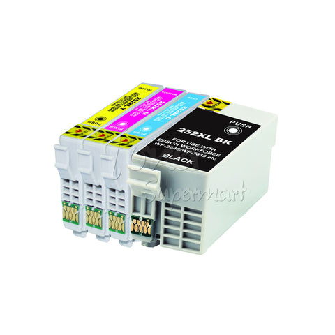 Compatible EPSON T252XL 4pcs High Yield INK / INKJET Cartridge Set BK/C/M/Y