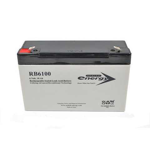 Rechargeable Sealed Lead - Acid Battery 6V, 10 Amp (For Exit Sign Combo)