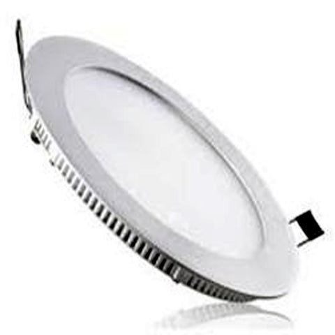 "6"" 12W Round LED Recessed Downlight Panel - White"