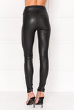 AMA High Waist Stretch Leather Leggings