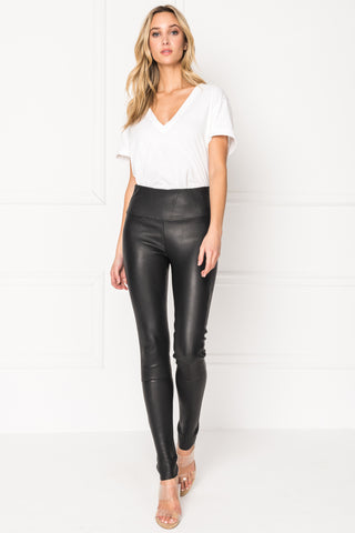 ANI Black High Waist Leather Leggings