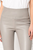 ANI Grey High Waist Leather Leggings