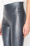 ANI Metallic High Waist Leather Leggings