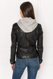 ANNA Black Leather Biker Jacket