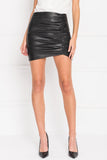 ARICIA Black Rushed Skirt