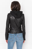ARLETTE Black Leather Biker Jacket