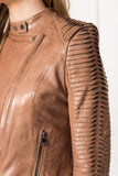 AZRA Camel Signature Leather Jacket