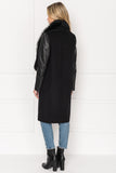 BAHAR Cascade coat Removable Collar.