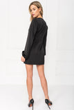 BALBINA Black Puff Sleeve Dress