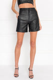 BERNICE High Waist Leather Short