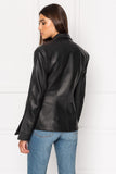 BETTY Black Leather Blazer