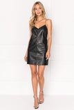 CHANEL Chain Strap Leather Slip Dress
