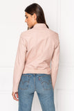 CHAPIN Patent Ballet Pink Reversible Leather Bomber