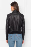CHAPIN Patent Reversible Leather Bomber