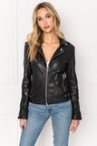 CHLOE Black Leather Biker Jacket