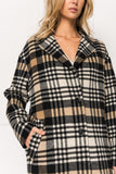 COPPOLA Plaid Oversized Cocoon Wool Coat