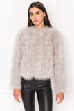 DEORA Grey Feather Jacket