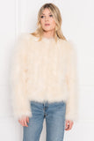 DEORA Ivory Feather Jacket