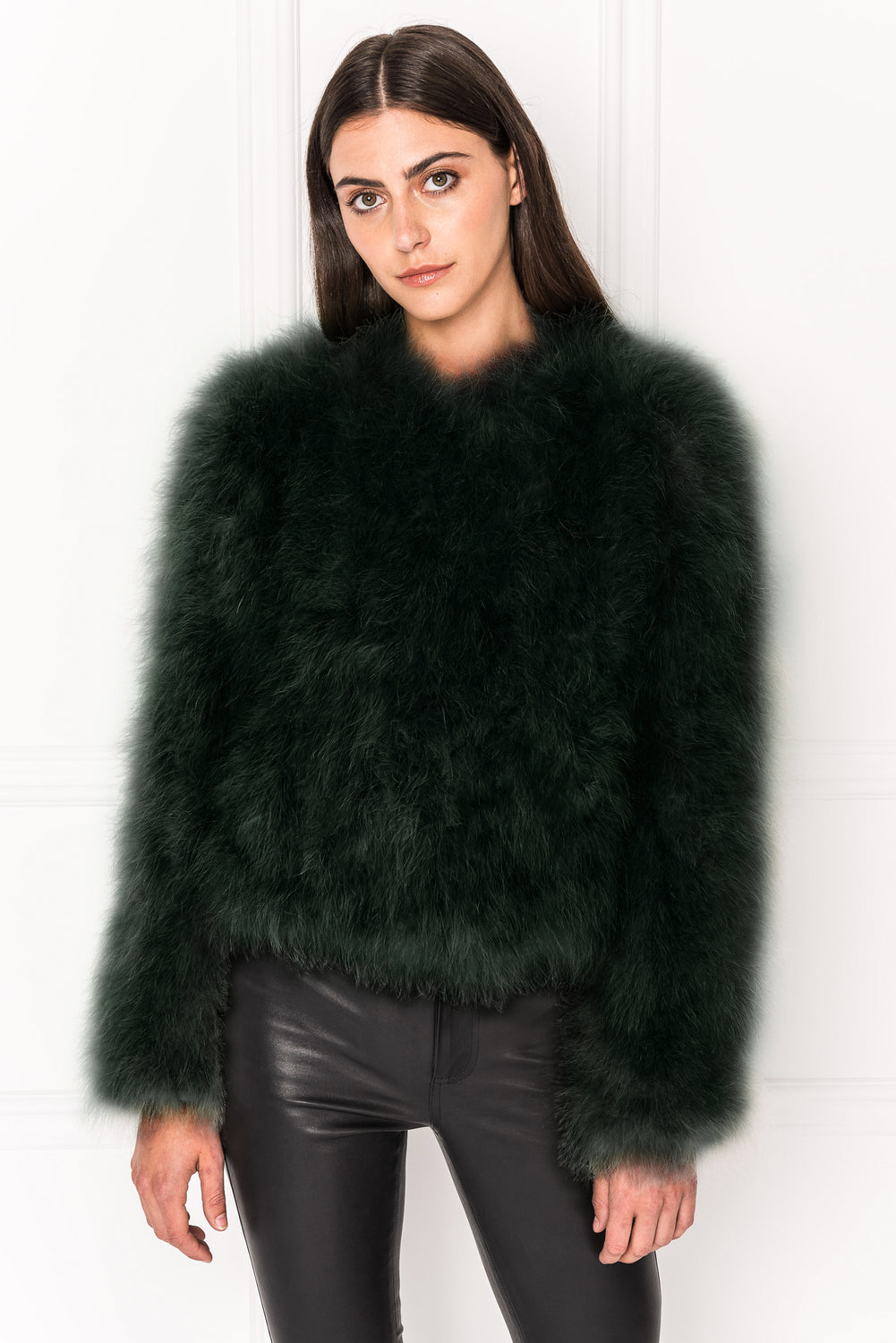DEORA Green Feather Jacket