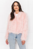 DEORA Light Pink Feather Jacket