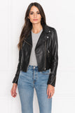DONNA Black Signature Leather Biker Jacket