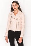 DONNA Rose Classic Leather Biker Jacket