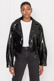 DYLAN 80's Patent Leather Biker Jacket
