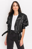 DYLAN 80's Black Leather Biker Jacket