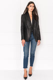 ELODIA Leather Boyfriend Blazer