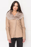 FRED Taupe Shearling Jacket