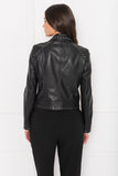 GALI Black Leather Studded Jacket