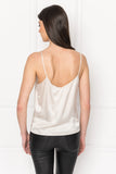 GIANNA White Silk Camisole