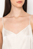 GIANNA Antique White Silk Camisole