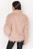 HARIKA Pink Shaggy Faux-Fur Jacket
