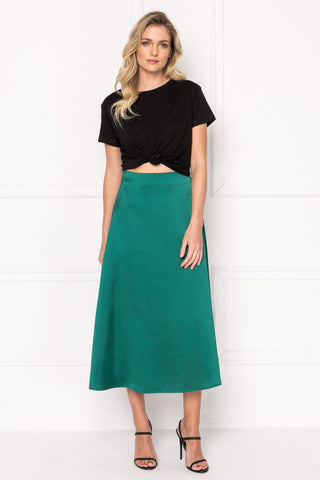 IZELLA Emerald Midi Skirt