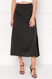 IZELLA Black Midi Skirt