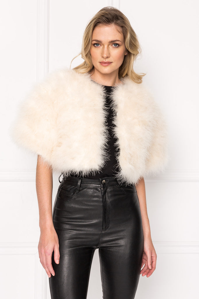 JENIS Feather Crop Jacket