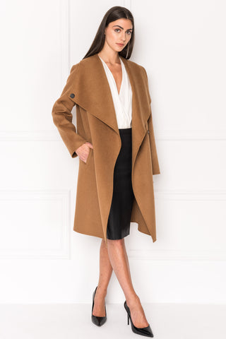 KIERA Sierra Cascade Collar Wool Coat