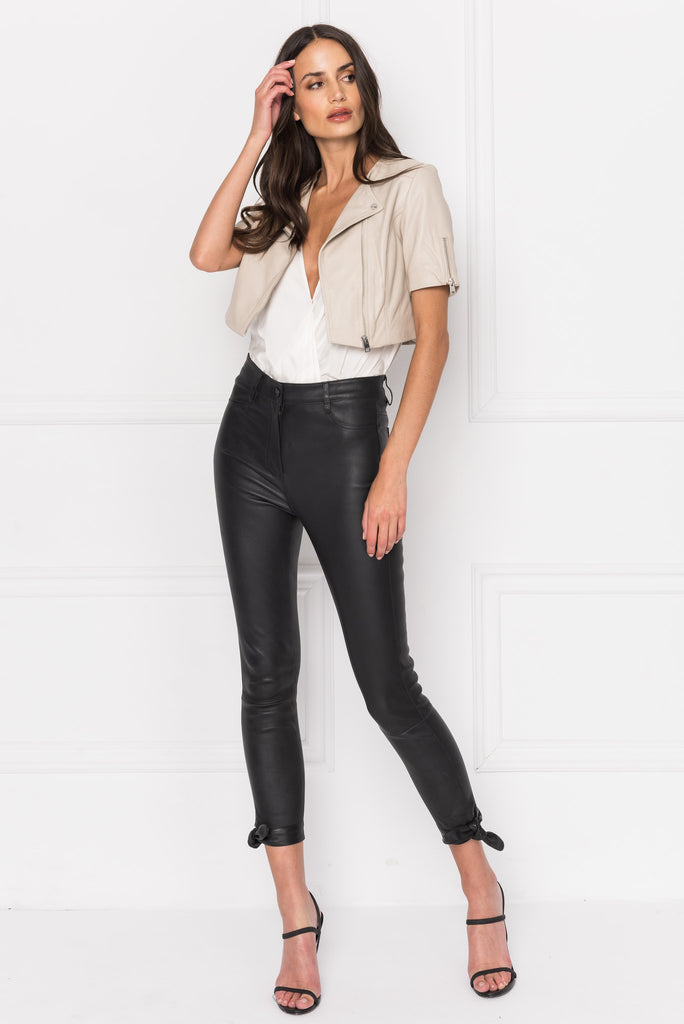 KIRSI Crop Biker Jacket