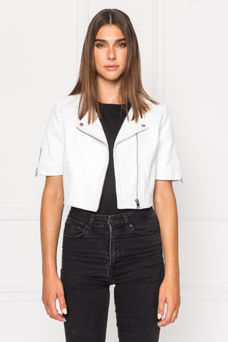 KIRSI Cropped Biker Jacket