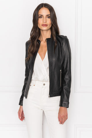 LINDA Minimal Leather Jacket