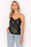 ARABELLA Chain Strap Leather Camisole
