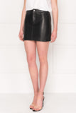 MELORA ECO Black Leather Jean Mini Skirt