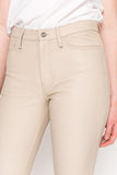 KENNA ECO Sand Leather Mom Jeans