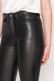 KENNA ECO Black Leather Mom Jeans