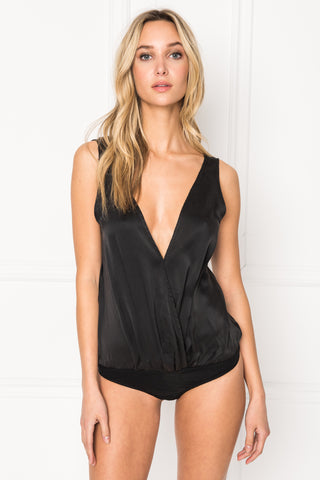 FALA Deep-V Silk Bodysuit